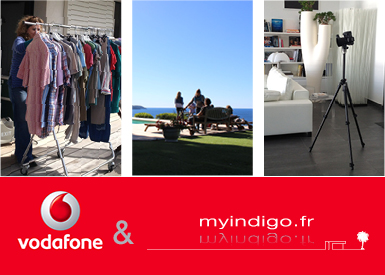 Vodafone Italy shoot their commercials in myindigo.fr 's villas